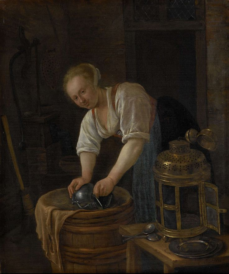 De ketelschuurster, Jan Havicksz. Steen, 1650 - 1660