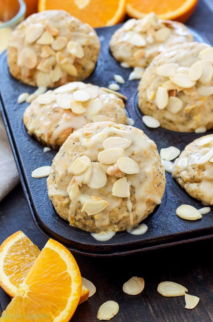 Orange Almond Poppy Seed Muffins | Light, tender Orange Almond Poppy Seed Muffins are perfect for your weekend breakfast or brunch!