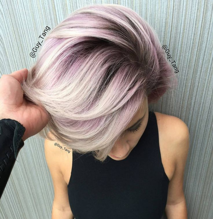 """I love this Metallic Obsession using @kenraprofessional demi 8vm midshaft and 9vm on ends and went in using creative color violet and @olaplex no2 to…"""