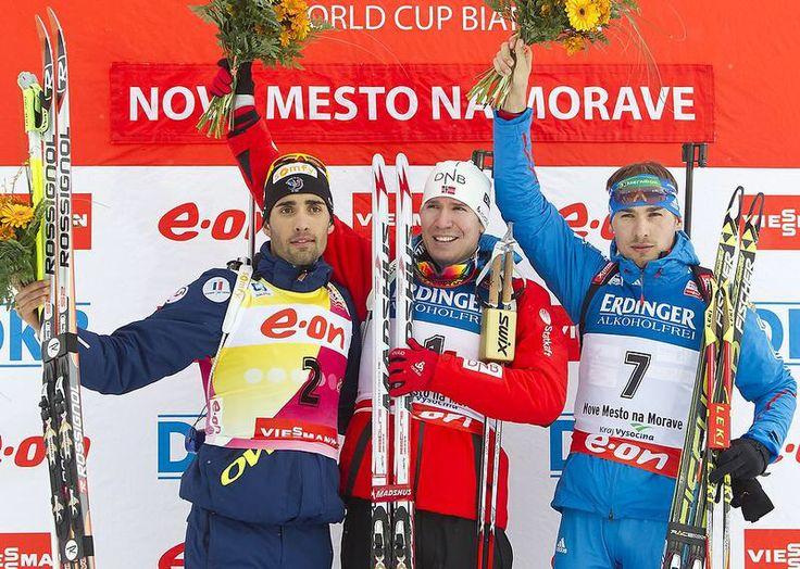 Shipulin, Fourcade and Svendsen at Nove Mesto oct. 2013
