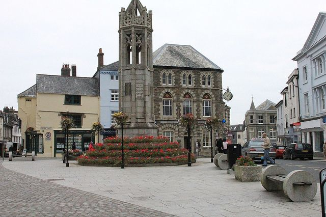 The town square in the heart of Launceston, Cornwall