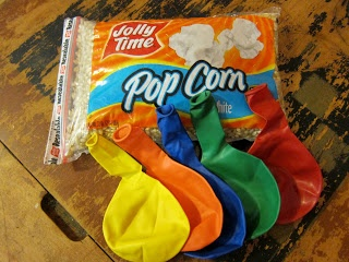 Balloons with a few popcorn seeds or beans inside and then blown up make a shaker.... haven't tried it yet but it is supposed to sound like thunder.