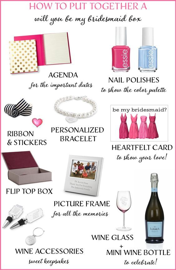 """How to Create a """"Will You Be My Bridesmaid"""" Box + a GIVEAWAY! http://www.theperfectpalette.com/2014/08/how-to-create-will-you-be-my-bridesmaid.html:"""