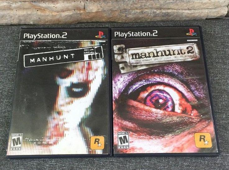 Manhunt 1 & Manhunt 2 Sony Playstation 2 PS2 Video Game Lot