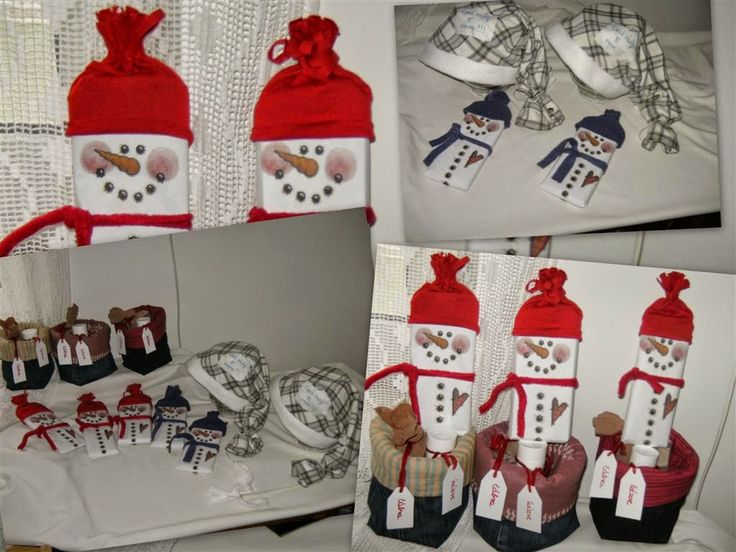 snowmen, chocolates,  nightcaps, baskets-gifts