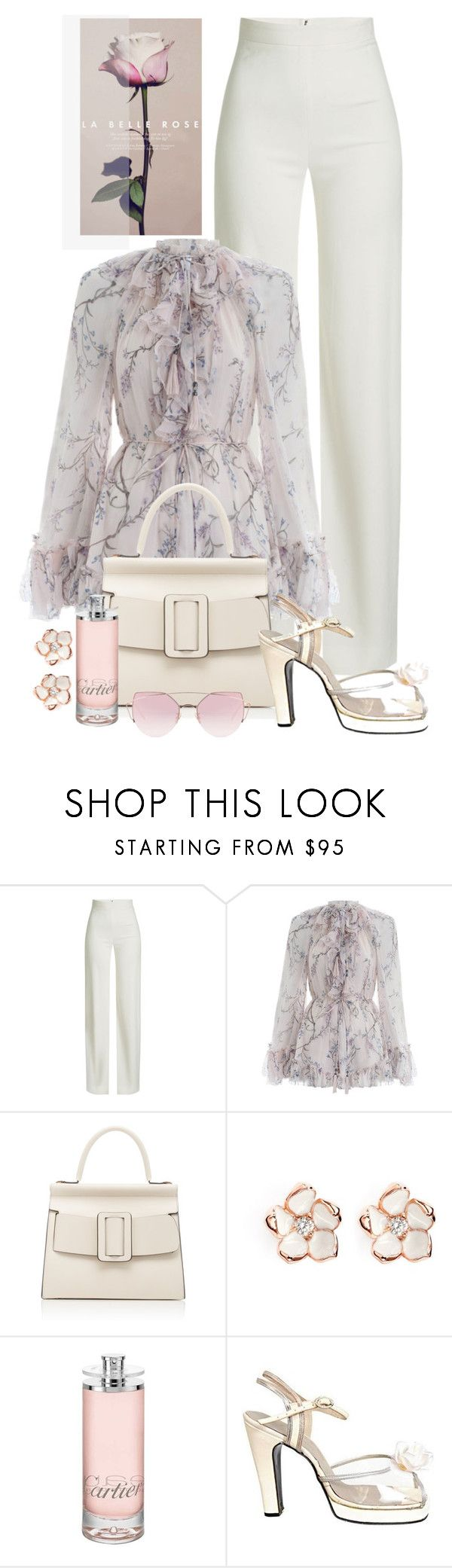 """La Belle Rose For You♥"" by nicolesynth ❤ liked on Polyvore featuring Brandon Maxwell, Zimmermann, Boyy, Shaun Leane, Cartier, Terry de Havilland and LMNT"