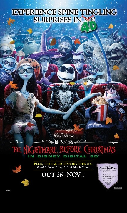The Nightmare Before Christmas in Disney Digital 3D, plus special 4D ...