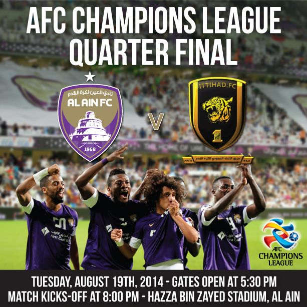 AL AIN FC Vs ITTIHAD FC - 19 August, Hazza Bin Zayed Stadium, Al Ain  Get Tickets Now from www.ticketmaster.ae