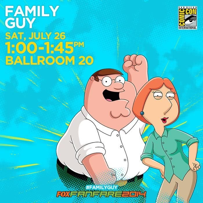 """""""Don't miss Family Guy voice stars Seth Green and Mike Henry, as well as executive producers Rich Appel, Steve Callaghan, Danny Smith and co-executive producer Peter Shin, plus surprise guests."""" I wish I could go but maybe next year"""