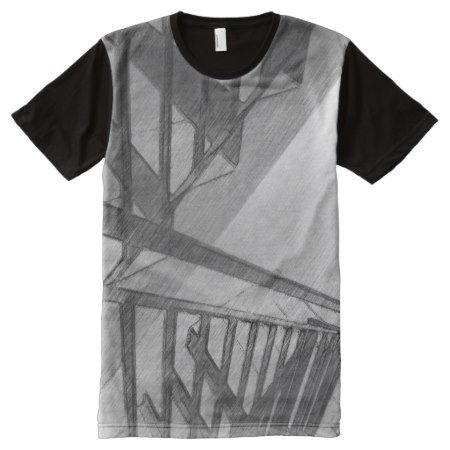 Stair drawing All-Over-Print T-Shirt - click to get yours right now!