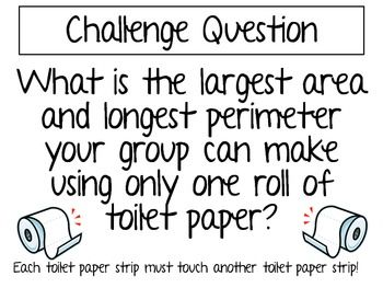 Toilet Paper Math Challenge Project ~ Area and Perimeter~ This would be AWESOME! @ Sherisse P.... I don't know if you or Nelson do more area or perimeter stuff but this would be so funny!