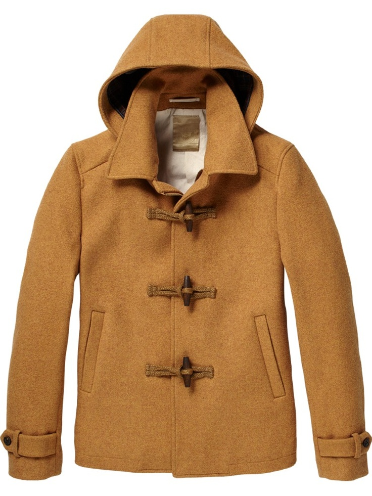 short wool duffle coat jackets scotch soda online. Black Bedroom Furniture Sets. Home Design Ideas