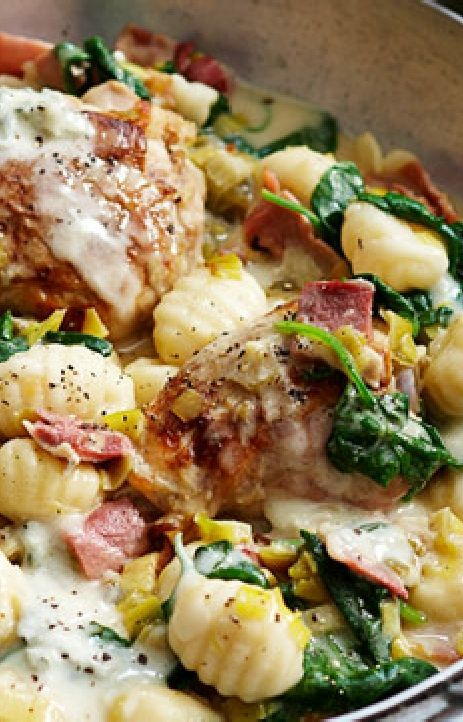 Low FODMAP and Gluten Free Recipe - Chicken with herb gnocchi - http://www.ibssano.com/low_fodmap_recipe_chicken_herb_gnocchi.html