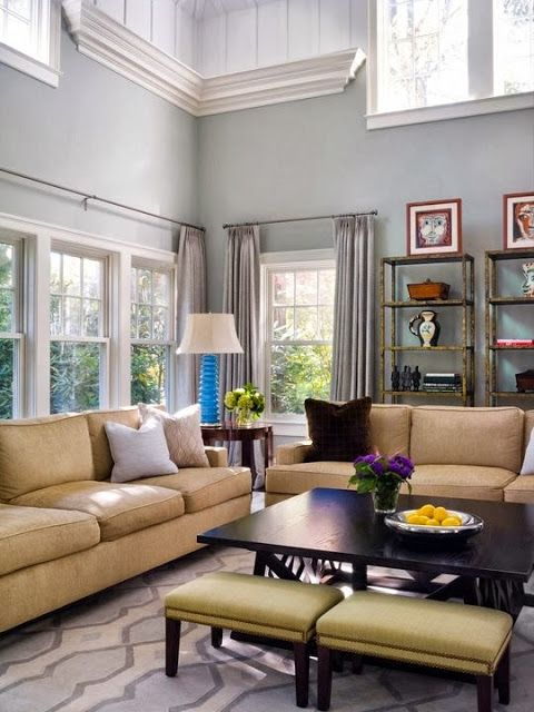 Simple Details: a collection of ideas for decorating two story walls...