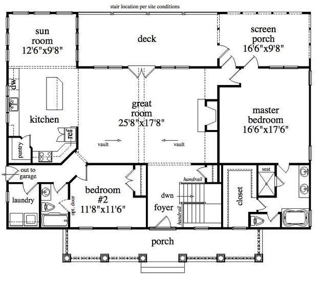 Master Bedroom Up Or Down house plan 957-00012 - traditional plan: 2,860 square feet, 4