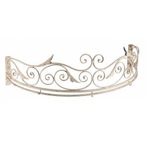 Ciel de lit in ferro bianco antico