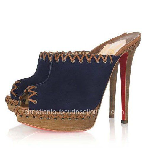 Christian Louboutin Sablina Suede Mules For Girls