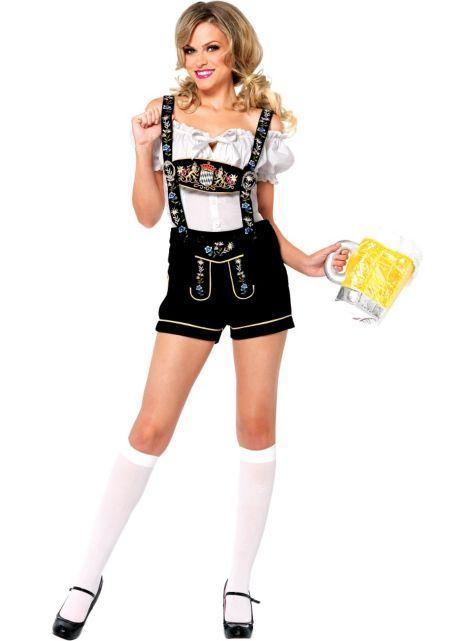 Adult Edelweiss Lederhosen Costume - Party City
