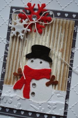 Magical Scrapworld: Sneeuwpopje Christmas card