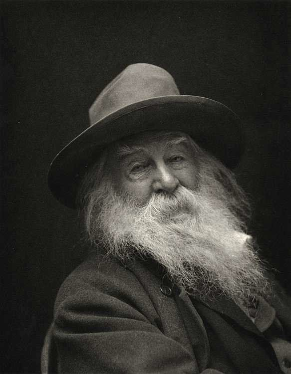 "WALT WHITMAN ""This is what you shall do: love the earth and sun and the animals…"