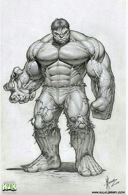 Dibujo hulk......DavídPeréz....#CineCómic