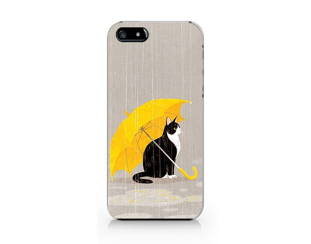 autumn in DaWanda Other – V112 Cat in rain phone case for iP4/5/5C/6/6plus – a unique product by Kim_Hana on DaWanda