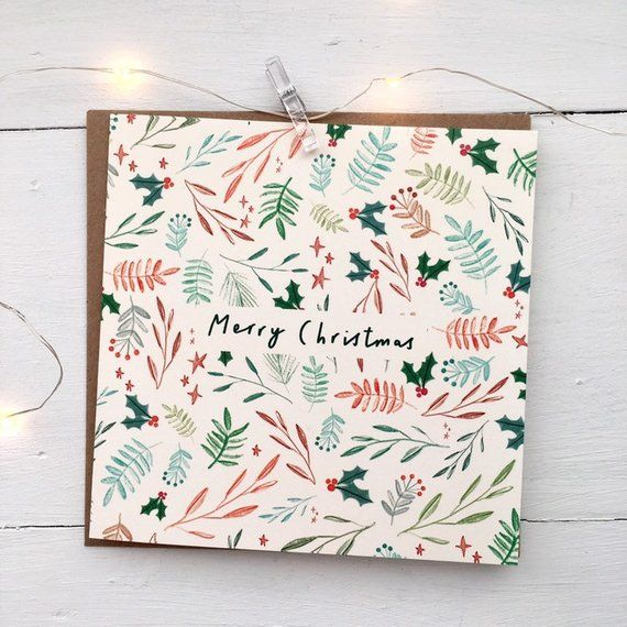 Illustrated Christmas Cards 12 Pack Of Christmas Cards Etsy Watercolor Christmas Cards Christmas Card Illustration Hand Drawn Christmas Cards