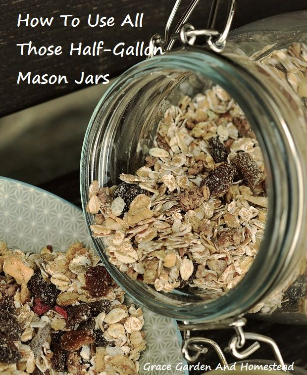 There are so many things you can store in your half-gallon mason jars--here are 20+ ideas to get you started.
