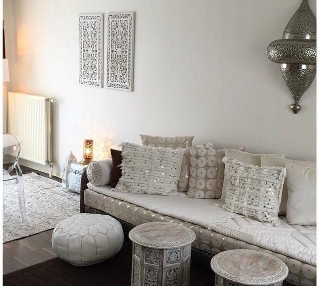 Best 25 salon marocain blanc ideas on pinterest sedari for Salon marocain blanc