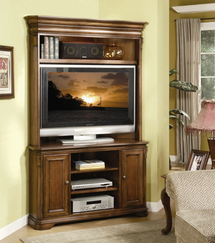 Idea For Corner TV Entertainment Center
