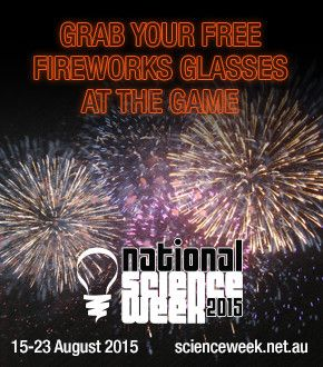 Free fireworks glasses at the game Brisbane Broncos NRL