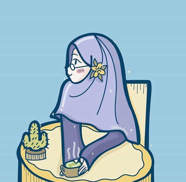 Hijab Illustration Kartun Animasi Islam