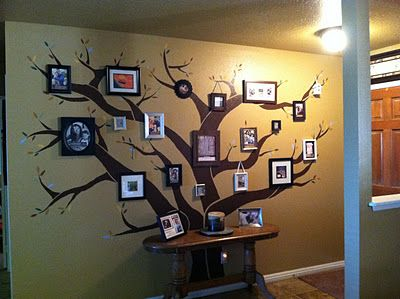DIY Family Tree Photo Wall Collage