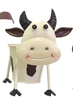 Cute cow pot plant holder