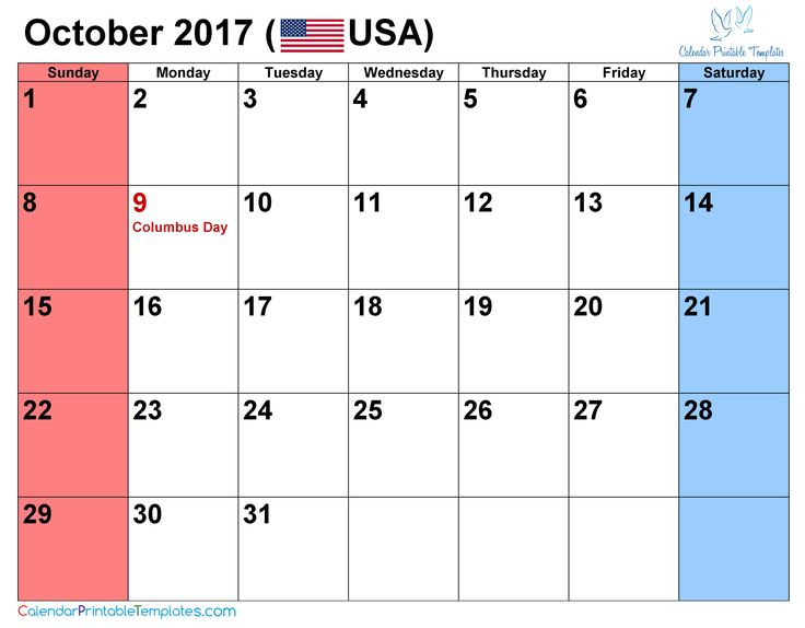 The 21 Best October 2017 Calendar Images On Pinterest Calendar