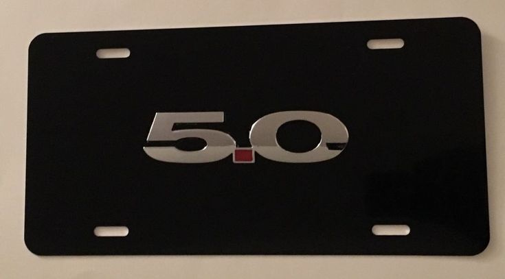 Mustang 3D Emblem Black Stainless Steel License Plate Frame Rust Free W//Caps
