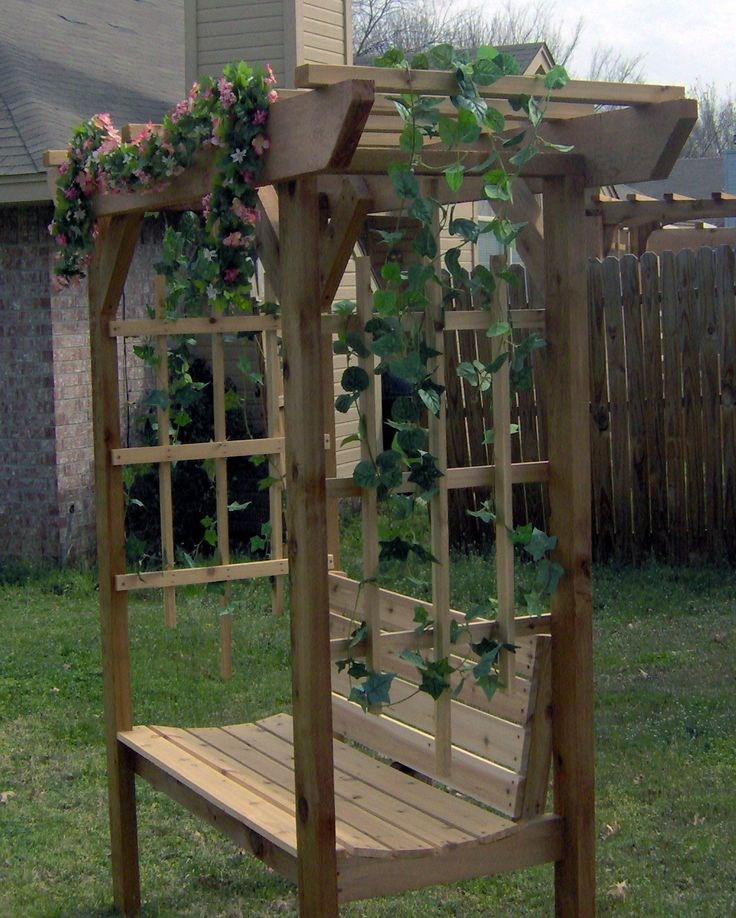 Garden Arbor With Bench Good For The Back Triangle Gardening Pinterest Gardens Search
