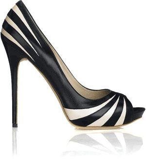 Alexander McQueen black and white heels