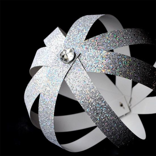 Easy DIY party decoration...paper ball.