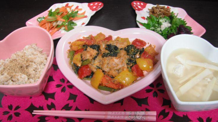 My dinner 今日の晩ご飯。=^-^=