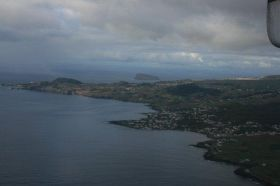 Terceira in the Azores, from the air – Portugal's highest mountain, Pico, is in the Azores.
