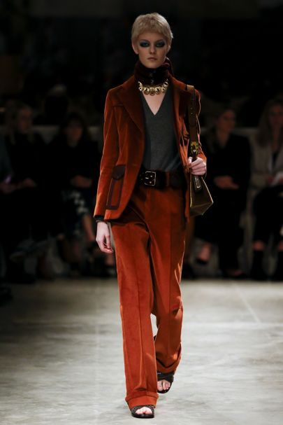 Fashion trend note: seventies fabrics, shapes,and colour palettes (sticky toffee, caramel, camel)
