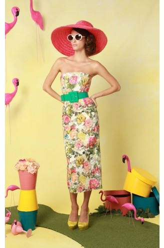 Alice + Olivia Sara Strapless Fitted Dress.  For some reason I'm thinking sexified Betty Draper.