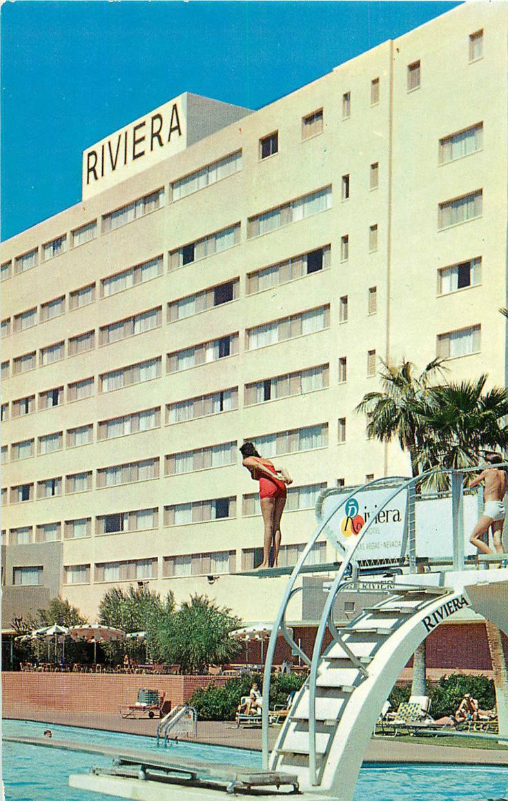 Las vegas nv riviera hotel casino swimming pool chrome p c for Riviera resort las vegas