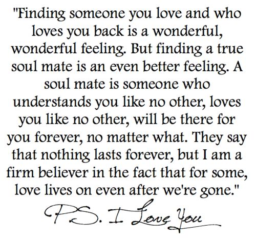 'P.S. I love you' for all who have loved and lost but accepted that love lives on