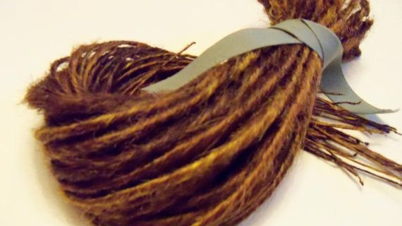 Dreads Natural Brown Blond Auburn - extensions highlights