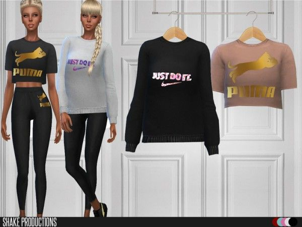 The Sims Resource: Top and pants 99 Set by ShakeProductions • Sims 4
