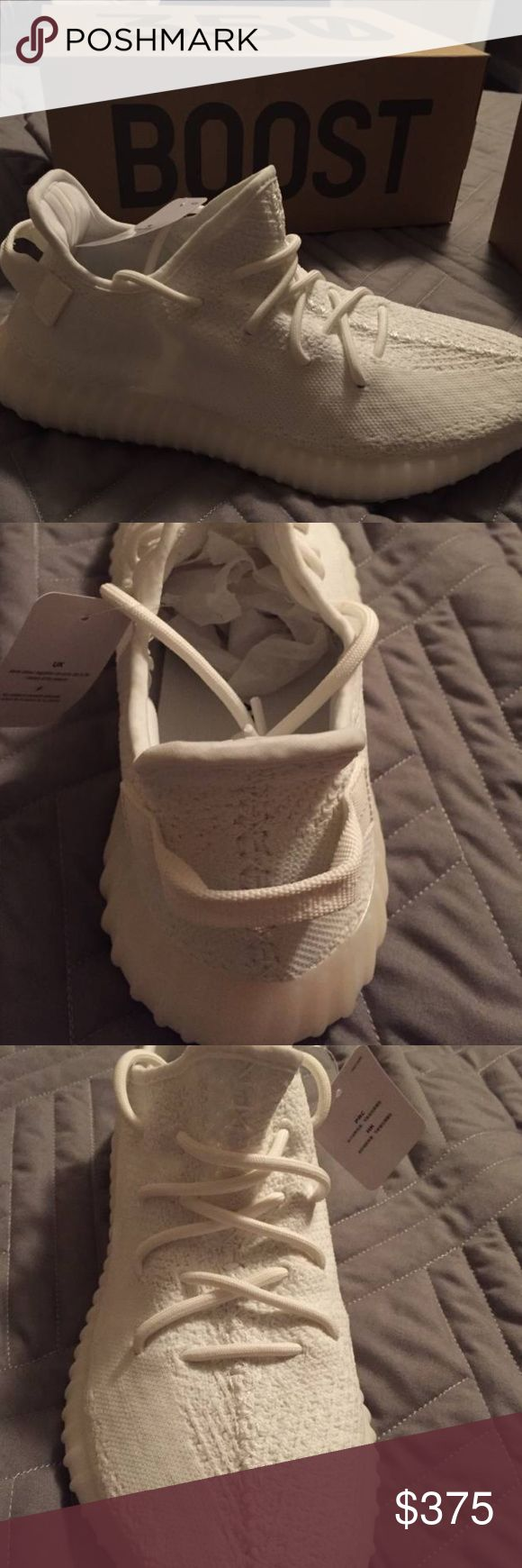 YEEZY BOOST 350 v2 CREAM Hello, I have a pair of brand new  worn twice yeezy boost 350 v2 in the cream colorway still in box only taken out for the pictures. This is a hobby of mine I buy and sell shoes so this is the perfect opportunity to get these shoes at a good price! I'm asking $375 obo adidas Shoes Sneakers