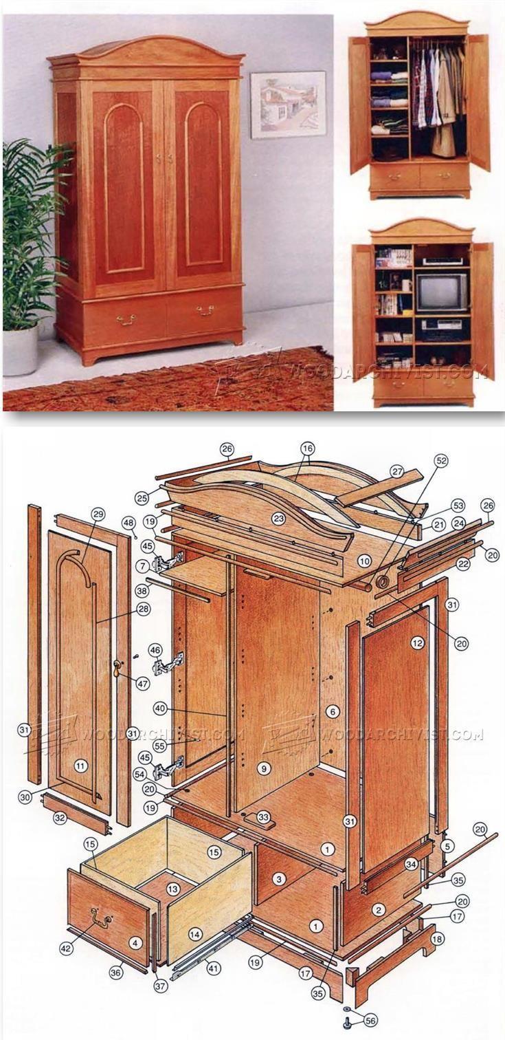 Classic Armoire Plans - Furniture Plans and Projects | WoodArchivist.com