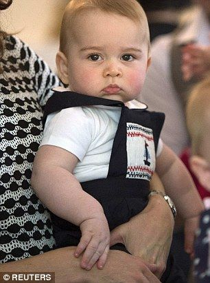 Prince George's pout.